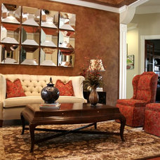 Traditional Living Room by Morrone Interiors
