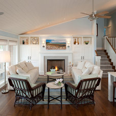 Beach Style Living Room by Francesca Owings Interior Design