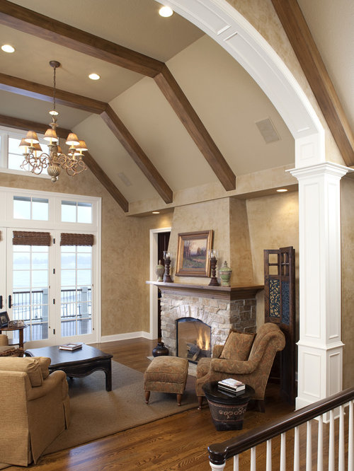 Flat Ceiling With Beams Houzz