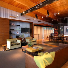 Contemporary Living Room by GMK Architecture Inc