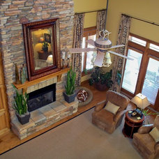 Traditional Living Room Lake Murray Waterfront Home