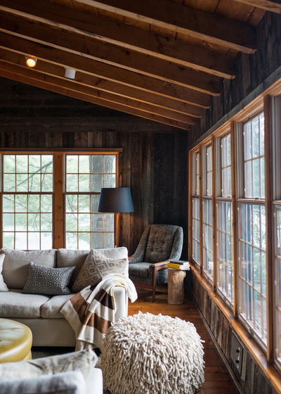 Rustic Living Room by Timothy Johnson Design