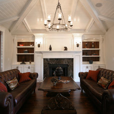 Traditional Living Room by Walker Woodworking