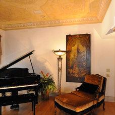 Mediterranean Living Room by Barbara Krai Interior Design