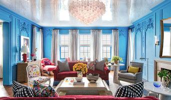 Cerulean Blue Lake Shore Drive Co-Op Living Room