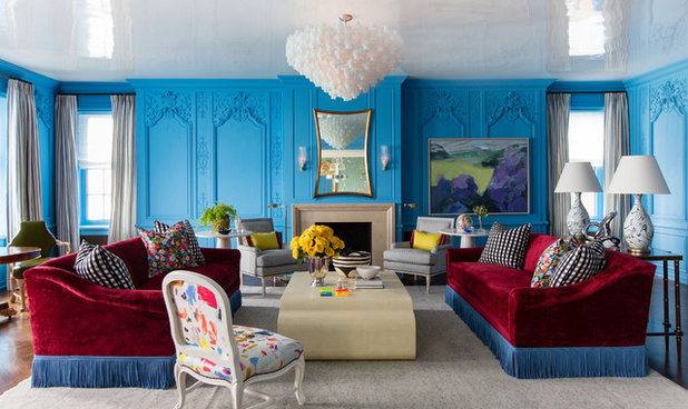Eclectic Living Room by Summer Thornton Design, Inc