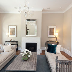 traditional living room by Marsh and Clark Design