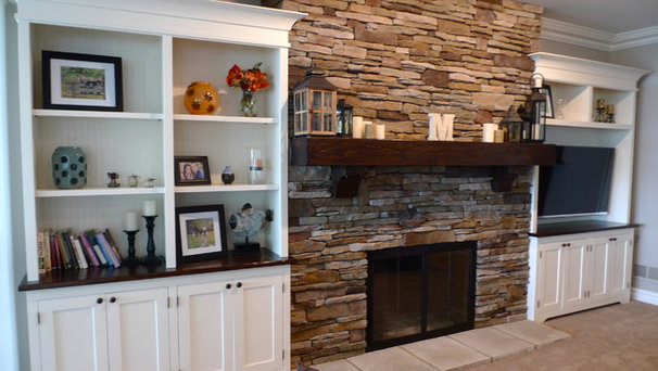 Traditional Living Room by Probuilt Woodworking LLC