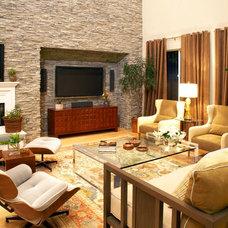 Rustic Living Room by Lori Dennis, ASID, LEED AP
