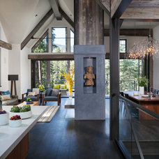 Rustic Living Room by Chelsea Sachs Design