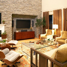 Modern Living Room by SoCal Contractor