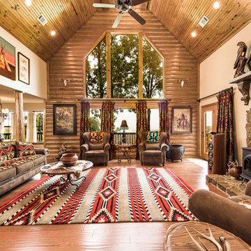 Lake Tenkiller Log Home - OKCHomeSellers Team Berkshire Hathaway HomeServices