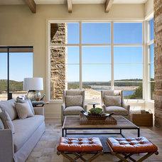 Transitional Living Room by Shoberg Custom Homes