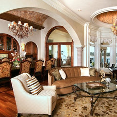 mediterranean living room by Zbranek & Holt Custom Homes