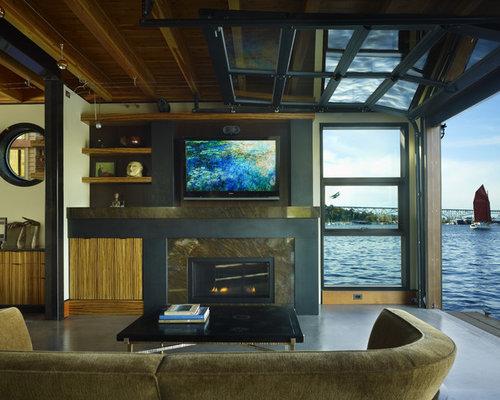 Living room garage door houzz for B q living room doors