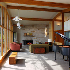 Midcentury Living Room by Lane Williams Architects