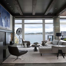 Modern Living Room by NB Design Group, Inc