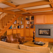 Craftsman Living Room by Todd Soli Architects