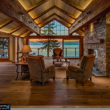Rustic Living Room by Finishing Touch Carpentry