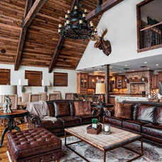 Rustic Living Room by Leslie McDonnell ReMax Realtor