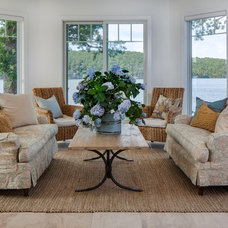 Traditional Living Room by Kim D. Hoegger