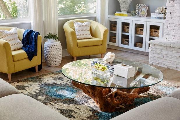 Transitional Living Room by Beth Dotolo, ASID, RID, NCIDQ