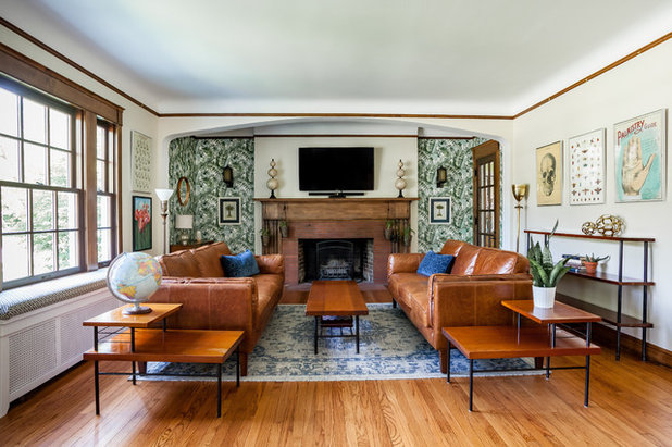 Eclectic Living Room by Oliver Construction LLC
