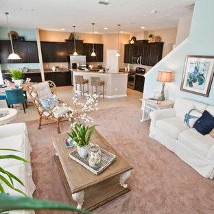 Beach style living room photo in Jacksonville