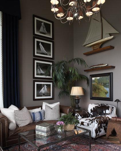 Eclectic Living Room by KSID Studio, LLC