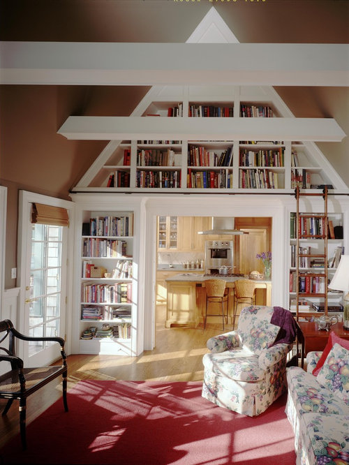 Living Room Library Design Ideas: Sliding Library Ladder Home Design Ideas, Pictures