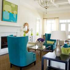 Contemporary Living Room by Leigh Olive Mowry-Olive Interiors