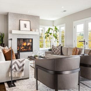 75 Beautiful Dark Wood Floor Living Room Pictures & Ideas ...