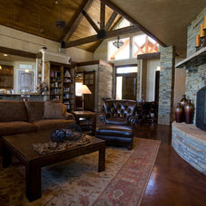 Traditional Living Room by Anderson Fine Homes