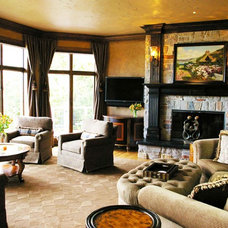 Craftsman Living Room by Thelen Total Construction