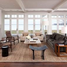 Transitional Living Room by Kurt Baum & Associates