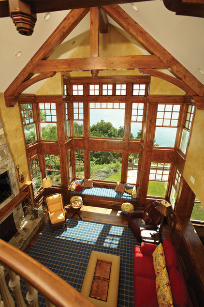 traditional living room by Kolbe Windows & Doors