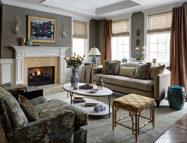 Traditional Living Room by Elstad Interiors