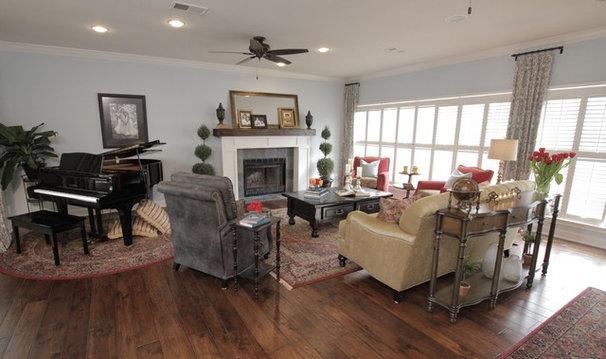 Traditional Living Room by Tonya Hopkins Interior Design