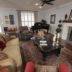 traditional living room by Tonya Hopkins Interior Design