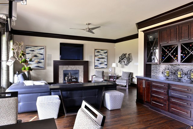 Contemporary Traditional Living Room room of the day: traditional living room gets a contemporary spin