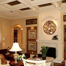 Mediterranean Living Room by Speir Faux Finishes, Inc.