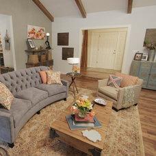 Eclectic Living Room by Tonya Hopkins Interior Design
