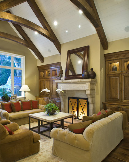 Contemporary Living Room by SDG Architecture, Inc.
