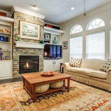Traditional Living Room by TEXAS TILE HOUSE
