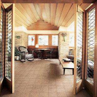 Kleines, Repräsentatives, Fernseherloses Klassisches Wohnzimmer ohne Kamin mit Linoleum in Sonstige
