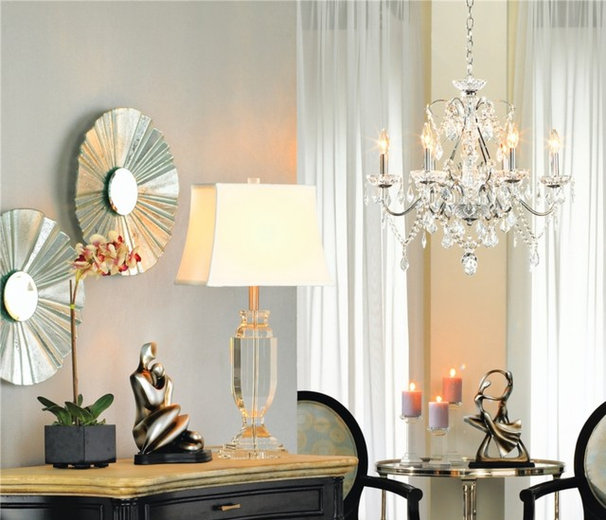 Traditional Living Room by Lamps Plus