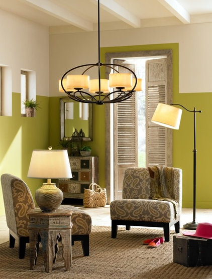 Eclectic Living Room by Lamps Plus