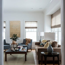 Transitional Living Room by victoria kirk interiors