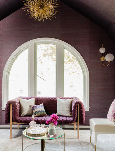 Transitional Living Room by color theory Boston