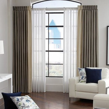 Larg Window and Curtains & Draperies of Indianapolis- Custom Styles at Affordabl